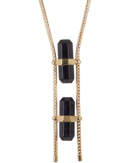 Double Black Tourmaline Necklace