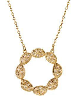 Ashley Scallop Flower Cutout Pendant Necklace