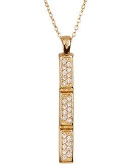 Ezra Pave Bar Pendant Necklace
