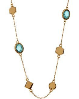 Levi Mini Mixed Stone Topaz Station Necklace