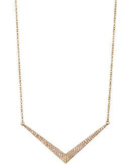 Amari Pave Chevron Pendant Necklace