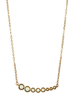 Julia Graduated Tourmaline Linear Pendant Necklace