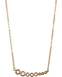 Graduated London Blue Topaz Linear Pendant Necklace