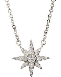 Pave Starburst Pendant Necklace