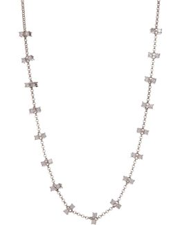 Elizabeth Double Cz Frontal Necklace