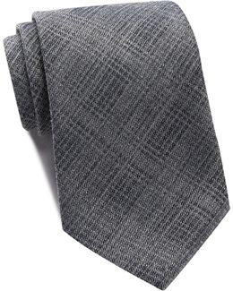 Plaid Wide Tie