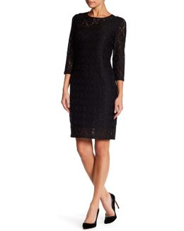 Geo Lace Dress (petite)