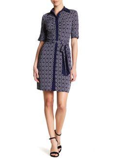 Geo Print Dress (petite)