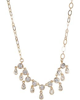 Cz Teardrop Frontal Necklace