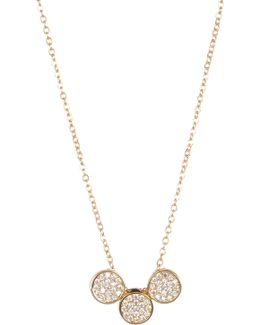 Round Pave Necklace