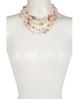 Multi-row Mix Beaded Necklace
