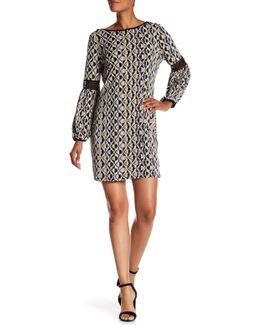 Lace Printed Shift Dress