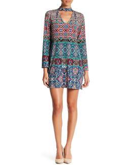 Split Bell Sleeve Printed Dress (petite)