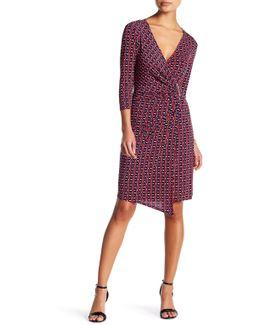 Geo Wrap Dress (petite)
