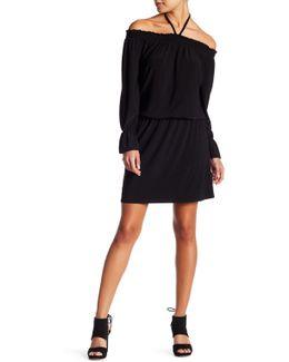 Off-the-shoulder Peplum Dress (petite)
