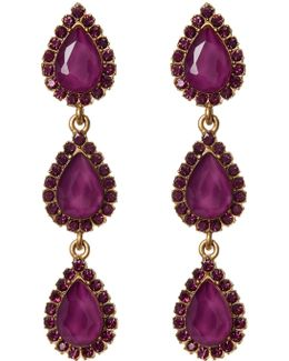 Natalie Pave Marquise Drop Earrings