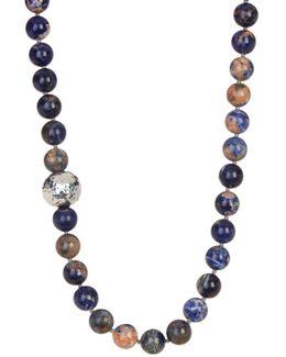 Orange Sodalite Beaded Necklace
