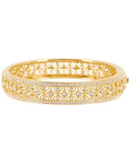 All-around Crystal Scalloped Bangle