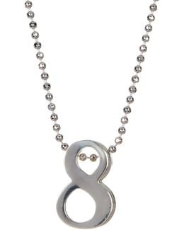 Sterling Silver Little Big '8' Pendant Necklace