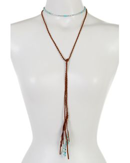 Turquoise Wrap Tassel Necklace