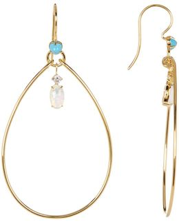 Fizzy Crystal Drop Hoop Earrings