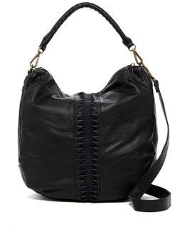 Nivaso Lasercut Leaher Hobo Shoulder Bag