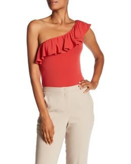 One Shoulder Ruffle Tee