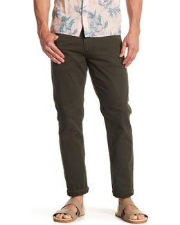 Zip Fly Solid Slim Jean