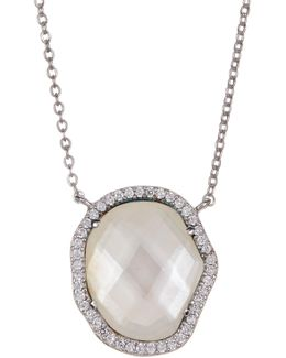 Boxed Pave Pendant Necklace