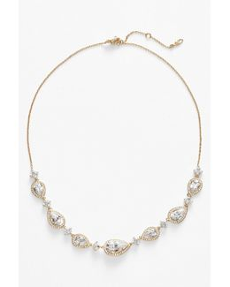 Cubic Zirconia Frontal Necklace