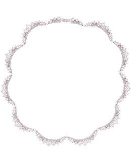Cz Crescent Link Necklace