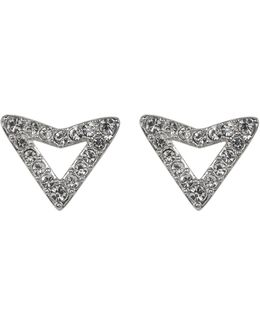Crystal Pave Stud Earrings