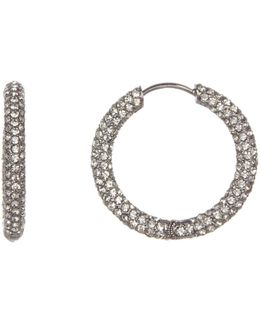 Pave Cz Hoop Earrings