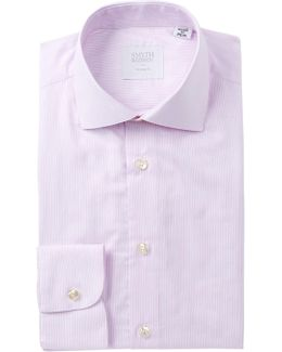 Dobby Micro Stripe Tailored Fit Dress Shirt