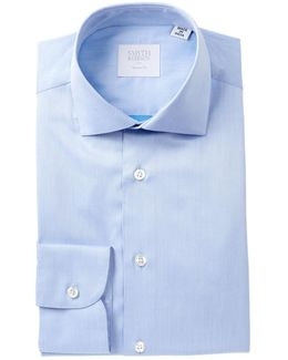Twill Solid Tailored Fit Dress Shirt