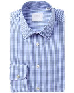 Poplin Gingham Tailored Fit Dress Shirt