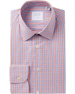 Poplin Check Tailored Fit Dress Shirt