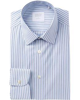 Poplin Stripe Tailored Fit Dress Shirt