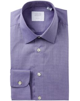 Dobby Print Tailored Fit Dress Shirt