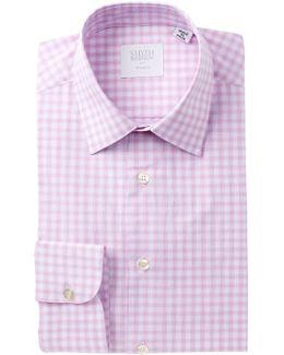 Poplin Plaid Tailored Fit Dress Shirt