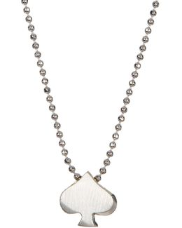 Sterling Silver Little Vegas Spade Pendant Necklace