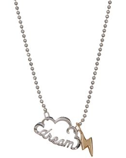 "Sterling Silver Little Words 'dream"" Pendant Necklace"