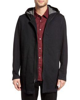 Hooded Zip Front Terry Jacket