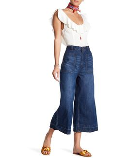 Dawn To Dusk Cropped Released Hem Flare Jean