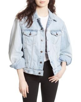 Paisley Quilted Denim Jacket