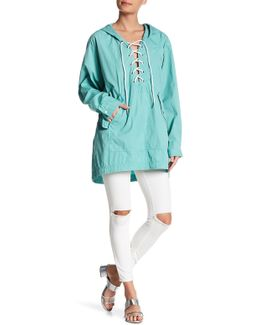 Popling Lace Up Pullover