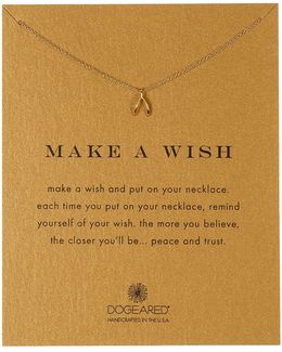 14k Gold Plated Sterling Silver Make A Wish Tiny Wishbone Pendant Necklace