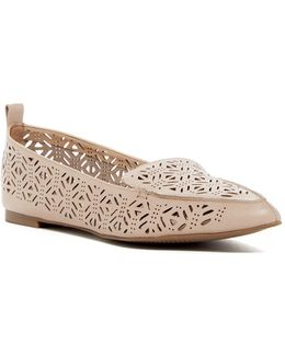 Onerin Laser-cut Pointed Toe Flat