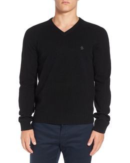 P55 100% Lambswool V-neck Sweater