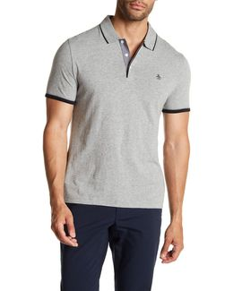 Contrast Trim Mearl Polo Shirt